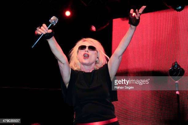 Debbie Harry performs during Perez Hilton's 7th annual One Night in Austin at the Austin Music Hall on March 15 2014 in Austin Texas