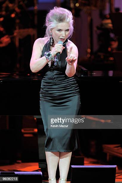 Debbie Harry performs on stage during the Almay concert to celebrate the Rainforest Fund's 21st birthday at Carnegie Hall on May 13 2010 in New York...