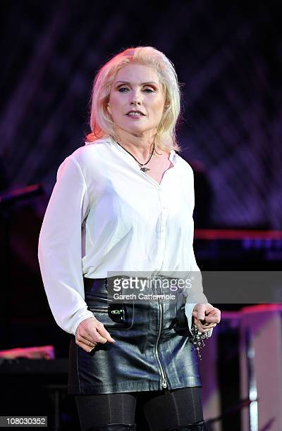 Debbie Harry performs onstage during 'A Concert For Killing Cancer' at Hammersmith Apollo on January 13 2011 in London England