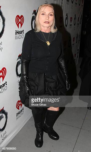 Debbie Harry poses at The Opening Night of 'The Last Ship' on Broadway at The Neil Simon Theatre on October 26 2014 in New York City