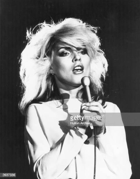 Debbie Harry singer with American new wave pop group Blondie UK 1978