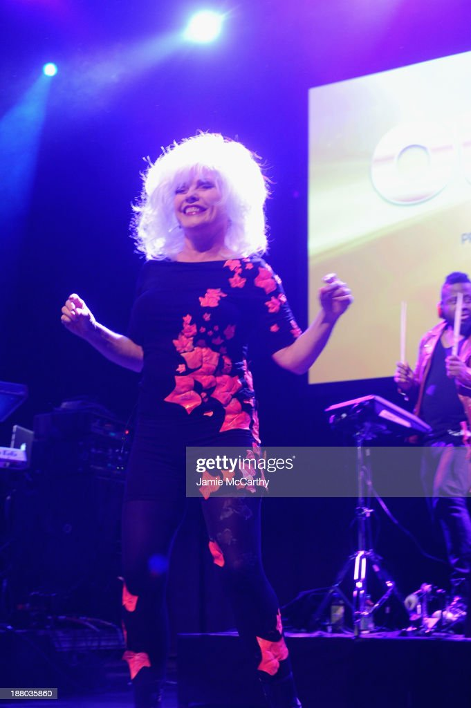 <a gi-track='captionPersonalityLinkClicked' href=/galleries/search?phrase=Debbie+Harry&family=editorial&specificpeople=209145 ng-click='$event.stopPropagation()'>Debbie Harry</a> speaks onstage at the 19th Annual Out100 Awards presented by Buick at Terminal 5 on November 14, 2013 in New York City.