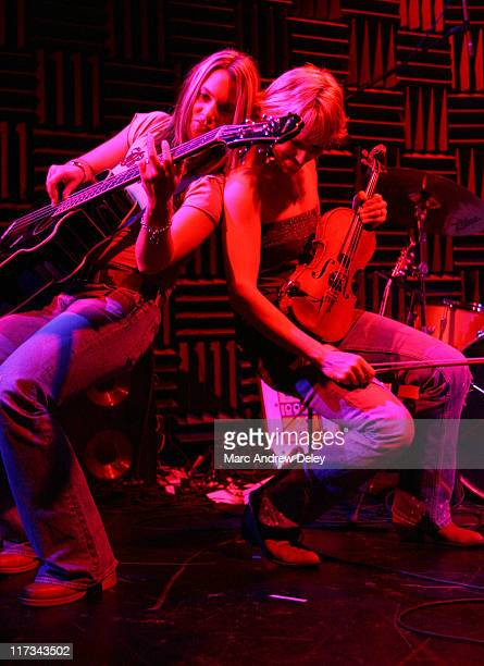 Debbie Johnson and Renae Truex of Cowboy Crush during Country Takes New York City CMA Global Markets Symposium and Showcase at Joe's Pub in New York...