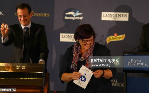 Debbie Kepitis part owner of 'Winx' draws gate 3 in The Longines Queen Elizabeth Stakes during The Championships Day 2 Barrier Drawat Royal Randwick...