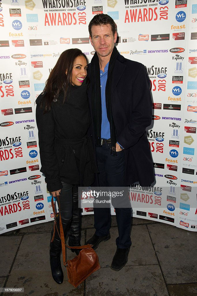 Debbie Kurup and Lloyd Owen attends the Whatsonstage.com Theare Awards nominations launch at Cafe de Paris on December 7, 2012 in London, England.