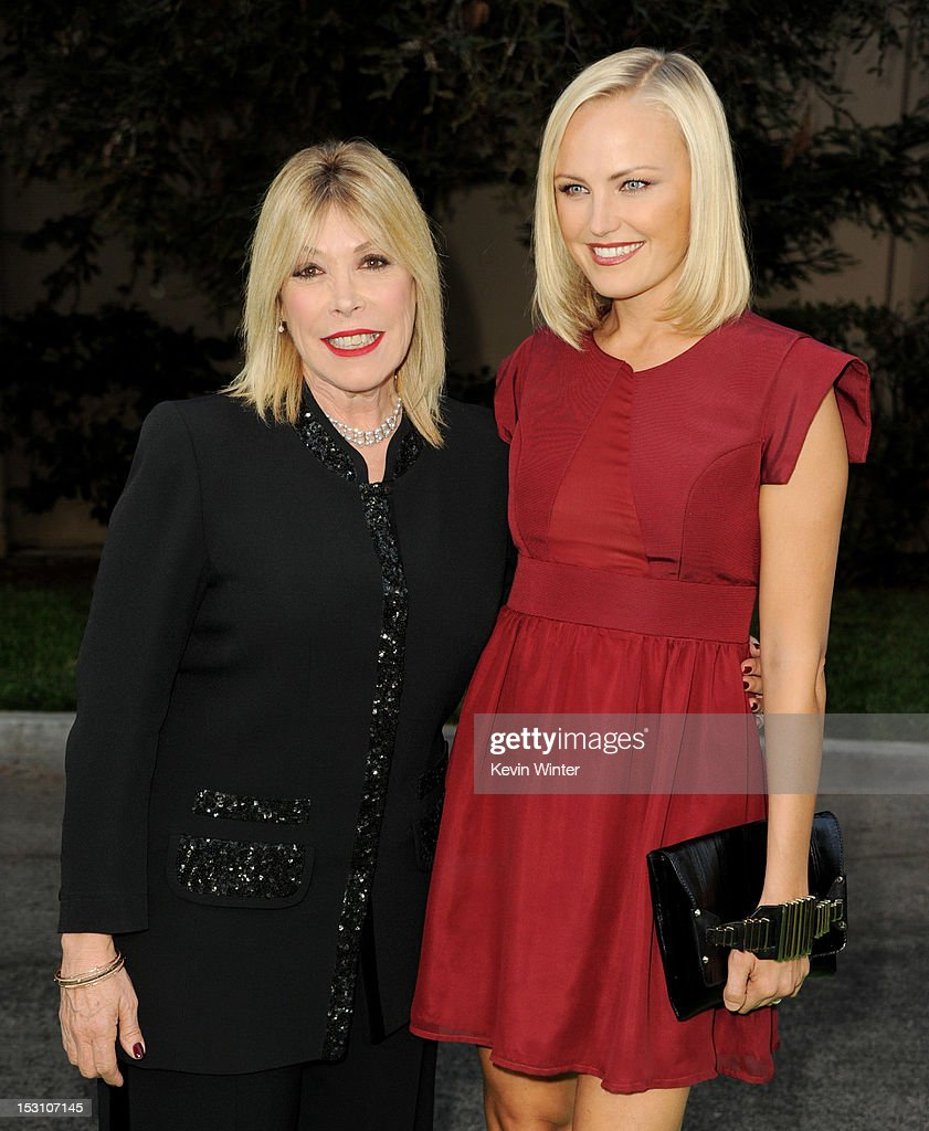 Debbie Levin, President, EMA (L) and actress <a gi-track='captionPersonalityLinkClicked' href=/galleries/search?phrase=Malin+Akerman&family=editorial&specificpeople=598245 ng-click='$event.stopPropagation()'>Malin Akerman</a> arrive at the 2012 Environmental Media Awards at Warner Brothers Studios on September 29, 2012 in Burbank, California.