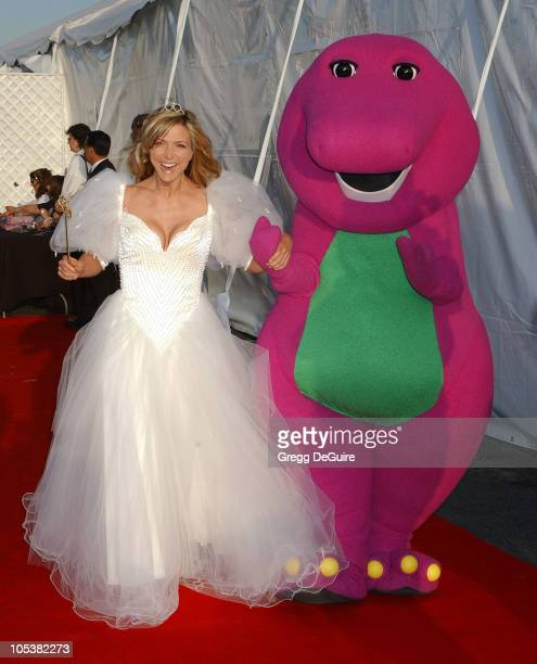 Debbie Matenopoulos and Barney during 2004 Dream Halloween Fundraiser For Children Affected by AIDS Foundation at Barker Hangar in Santa Monica...