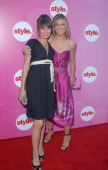Debbie Matenopoulos and Catt Sadler during E and STYLE Networks' TCA Summer Press Tour July 11 2006 at Ritz Carlton in Pasadena California United...