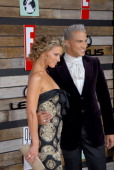 Debbie Matenopoulos and Jay Manuel during EMA E Golden Green Party at 9900 Wilshire Blvd in Beverly Hills California United States