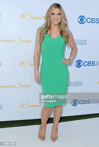Debbie Matenopoulos arrives at CBS Television Studios 3rd Annual Summer Soiree Party at The London Hotel on May 18 2015 in West Hollywood California