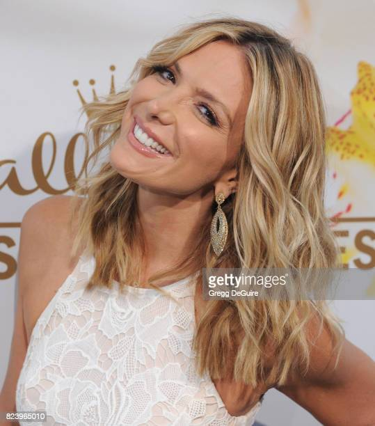 Debbie Matenopoulos arrives at the 2017 Summer TCA Tour Hallmark Channel And Hallmark Movies And Mysteries at a private residence on July 27 2017 in...