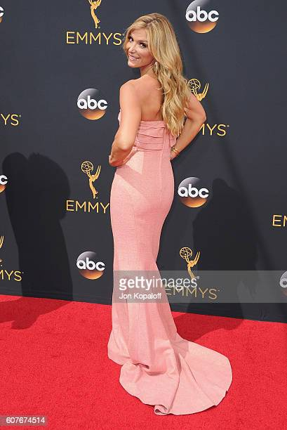 Debbie Matenopoulos arrives at the 68th Annual Primetime Emmy Awards at Microsoft Theater on September 18 2016 in Los Angeles California