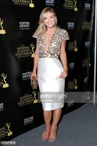 Debbie Matenopoulos attends the 44th Daytime Emmy Awards with Foster Grant on April 30 2017 in Los Angeles California