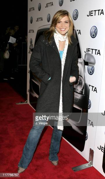 Debbie Matenopoulos during 2005 Volkswagen Jetta Premiere Party Red Carpet at The Lot in West Hollywood California United States