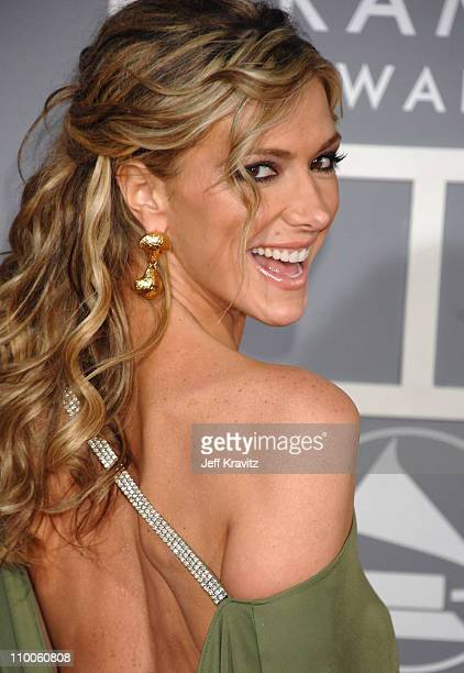 Debbie Matenopoulos during The 49th Annual GRAMMY Awards Arrivals at Staples Center in Los Angeles California United States