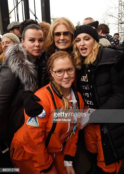 Debbie Mazur Gloria Steinem Madonna and Amy Schumer attend the rally at the Women's March on Washington on January 21 2017 in Washington DC