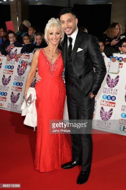 Debbie McGee and Giovanni Pernice attend the Pride Of Britain Awards at Grosvenor House on October 30 2017 in London England