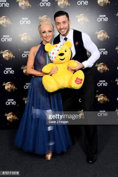 Debbie McGee and Giovanni Pernice attend the Strictly Come Dancing for BBC Children in Need photocall at Elstree Studios on November 4 2017 in...
