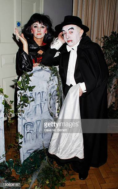 Debbie McGee and Paul Daniels attend Virgin Media's Tivo Horror Quiz at One Marylebone on October 26 2011 in LondonEngland
