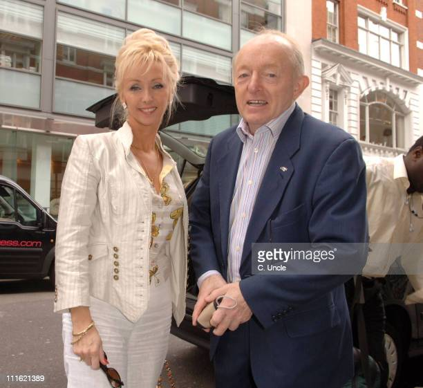 Debbie McGee and Paul Daniels during Celebrity X Factor Press Conference May 30 2006 at 2021 Newman Street in London Great Britain