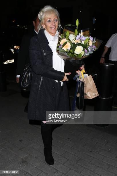 Debbie McGee seen arriving at the BBC Studios for The One Show on October 31 2017 in London England