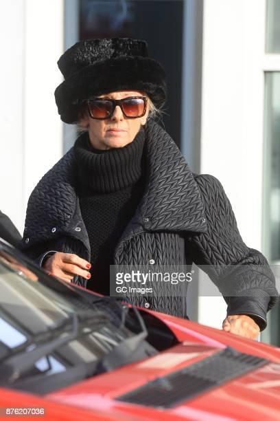 Debbie McGee seen leaving her hotel on November 19 2017 in Blackpool England