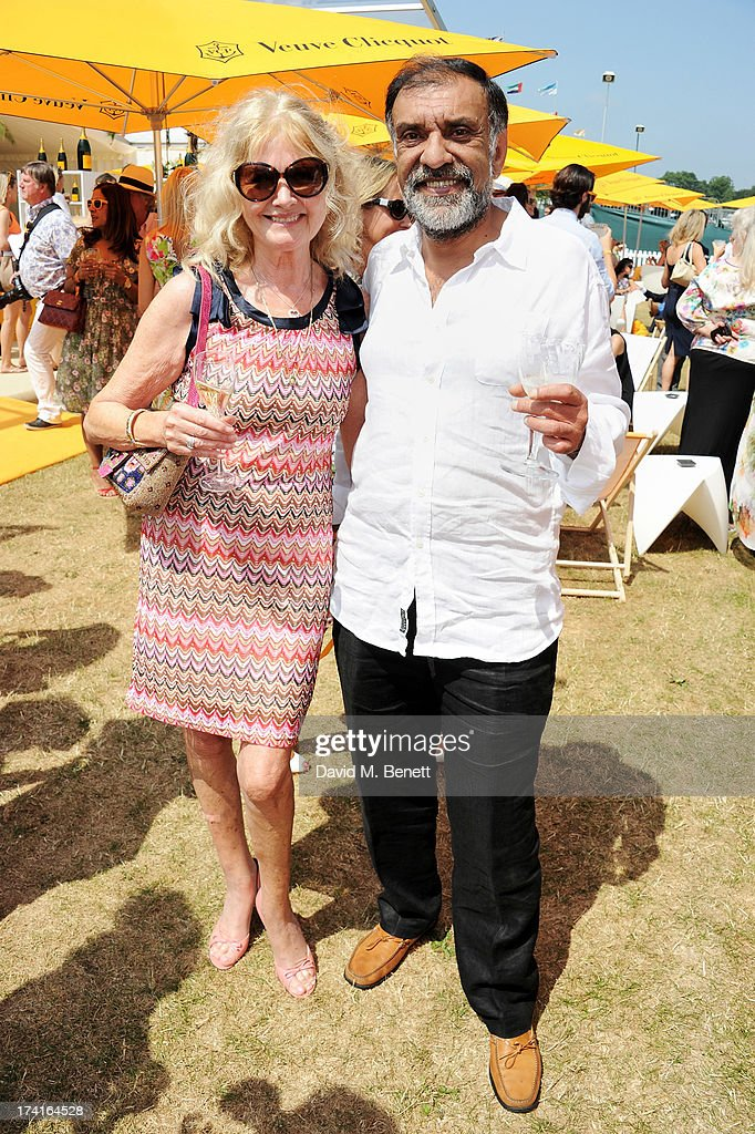 Debbie Moore (L) attends the Veuve Clicquot Gold Cup Final at Cowdray Park Polo Club on July 21, 2013 in Midhurst, England.