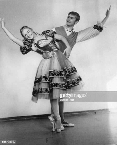 Debbie Norblom and Mark Schneider dance the leads in 'The Little Match Girl' an original presentation of the Premiere Dance Arts Company set for Dec...