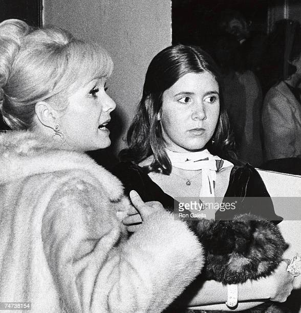 Debbie Reynolds and Carrie Fisher at the Town Hall New York City in New York City New York