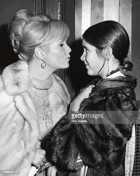Debbie Reynolds and Carrie Fisher during Debbie Reynolds sighting at the Town Hall New York City for the School Benefit at Town Hall November 6 1972...