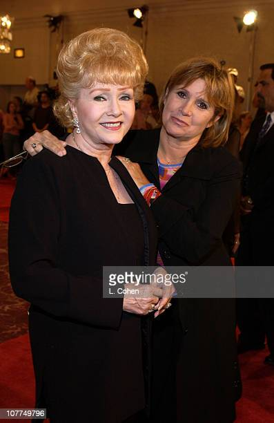 Debbie Reynolds and Carrie Fisher during St Jude Runway For Life Red Carpet at Beverly Hilton Hotel in Beverly Hills California United States