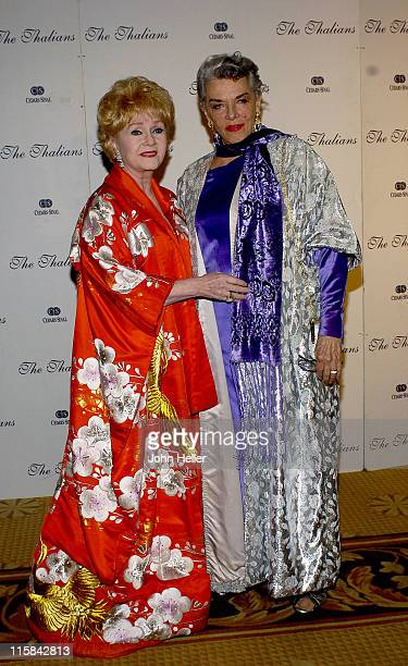 Debbie Reynolds and Jane Russell during The 49th Annual Thalians Ball at Century Plaza Hotel in Los Angeles California United States