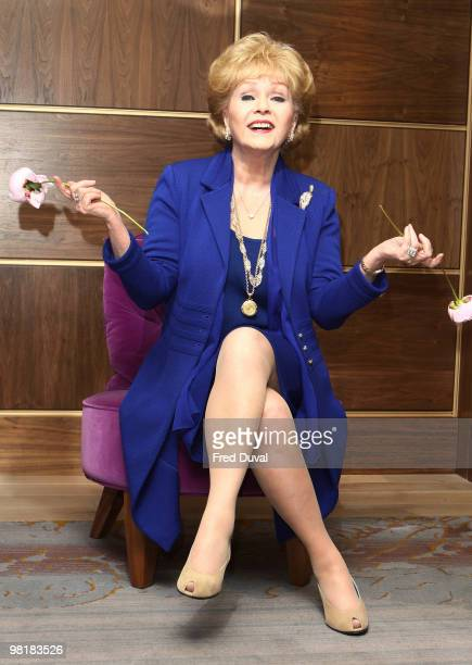 Debbie Reynolds at the photocall for 'Alive and Fabulous' held at the Sofitel Hotel on her 78th birthday at on April 1 2010 in London England