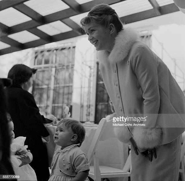 Debbie Reynolds attends an event with daughter Carrie Fisher in Los AngelesCA