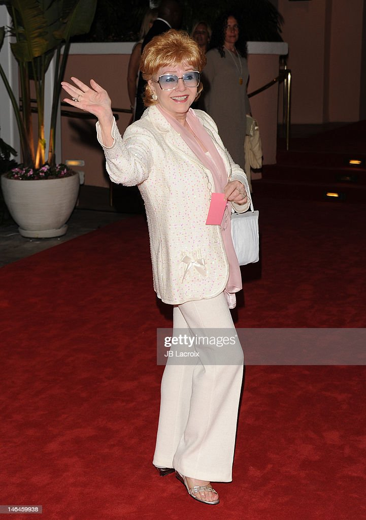 Debbie Reynolds attends the 100th anniversary celebration of the Beverly Hills Hotel & Bungalows supporting the Motion Picture & Television Fund and the American Comedy Fund hosted by Brett Ratner and Warren Beatty at The Beverly Hills Hotel on June 16, 2012 in Beverly Hills, California.