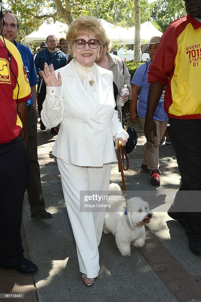 Debbie Reynolds attends the 18th Annual Los Angeles Times Festival of Books - Day 1 at USC on April 20, 2013 in Los Angeles, California.