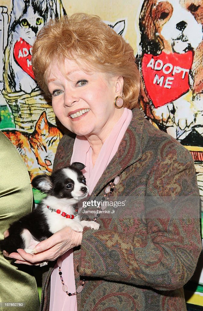 Debbie Reynolds attends the Follow The Stars/Adopt A Pet 2013 Rose Parade Float Unveiling held at the Beverly Hills City Hall on December 6, 2012 in Beverly Hills, California.