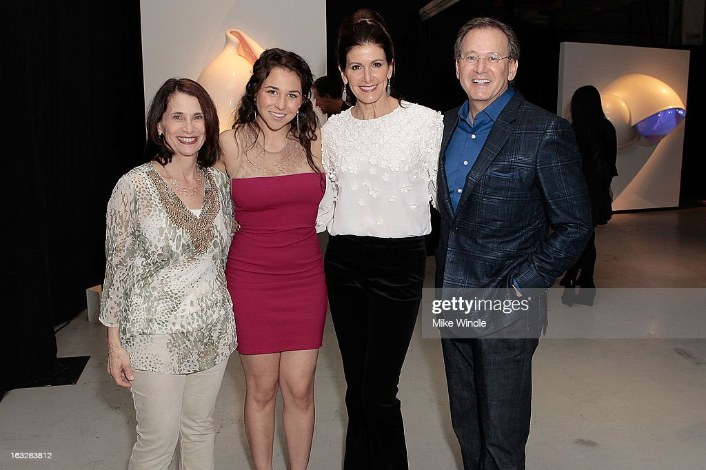 Debbie Sandack, Chandler Taslitz, Kelly Katz and Martin Katz attend the Kathy Taslitz 'Just Visiting' exhibition and reception benefiting P.S. Arts on March 6, 2013 in Los Angeles, California.