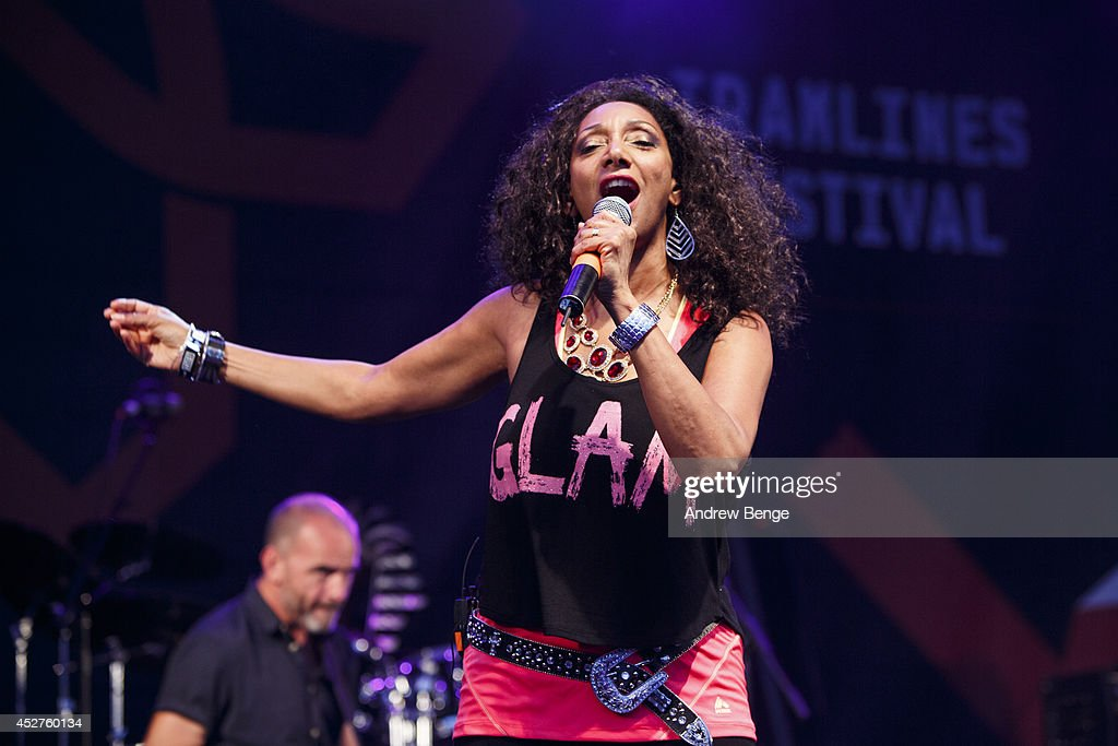 Debbie Sledge of Sister Sledge performs on stage at Tramlines Festival at (venue) on July 26, 2014 in Sheffield, United Kingdom.