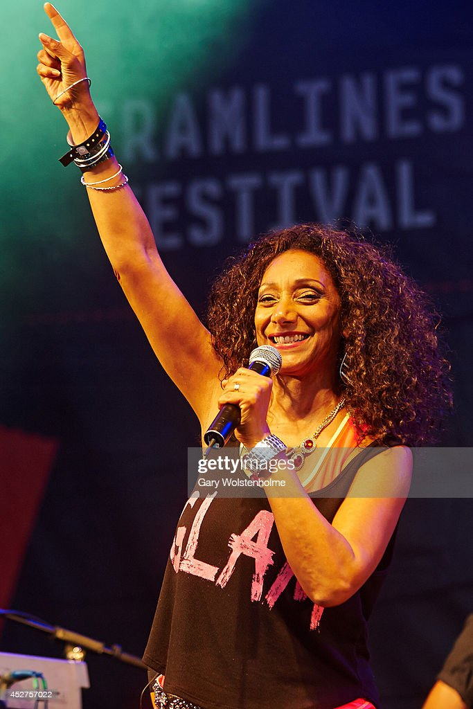 Debbie Sledge of Sister Sledge performs on stage at Tramlines Festival at Devonshire Green on July 26, 2014 in Sheffield, United Kingdom.