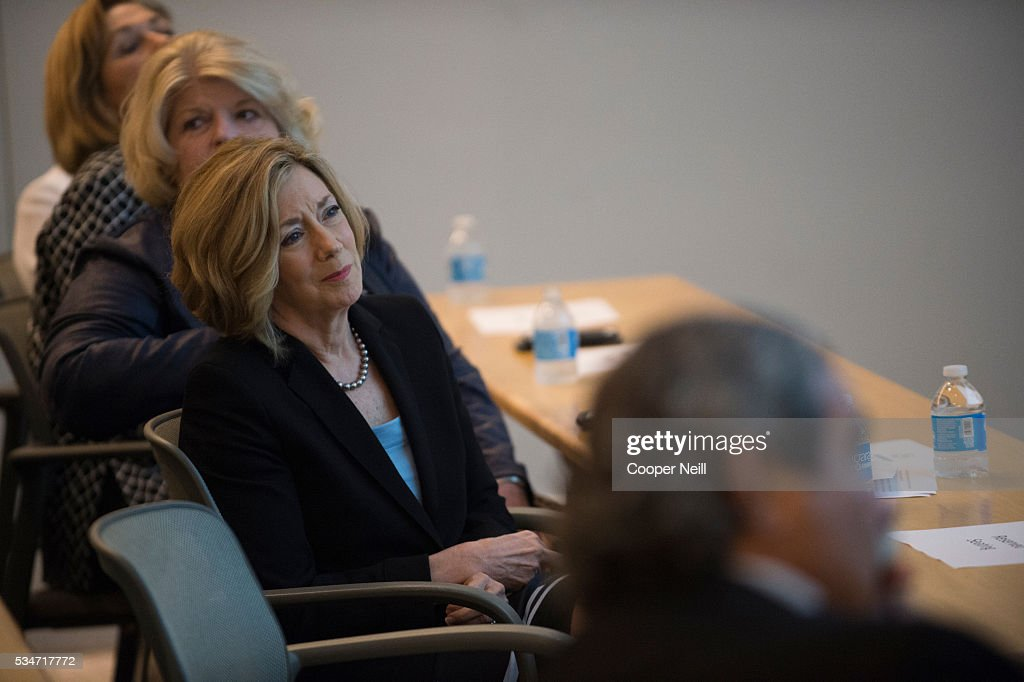 Debbie Taylor of CITI looks on during the Neighbor Up news conference at UNT Dallas on May 27, 2016 in Dallas, Texas.
