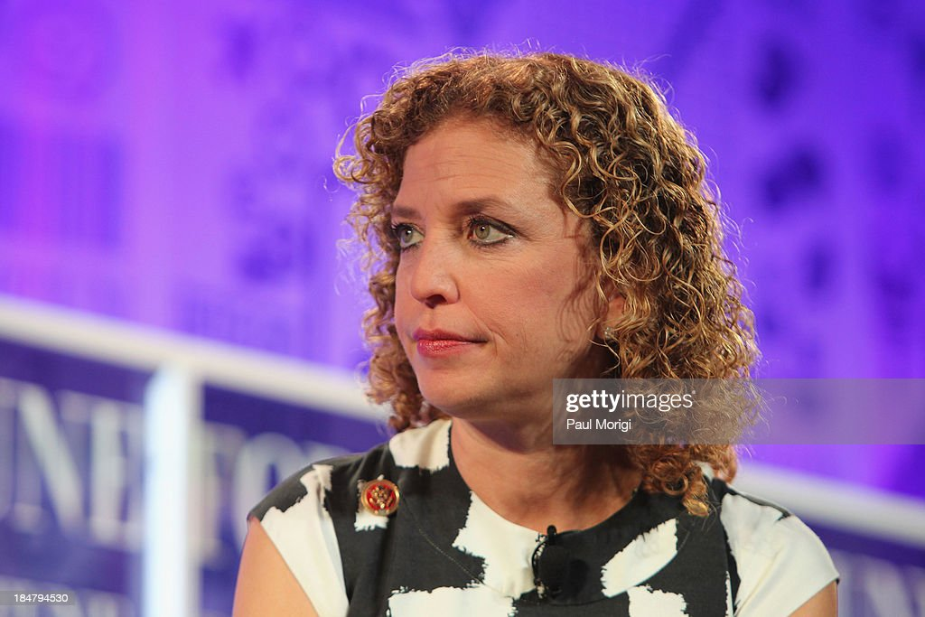 <a gi-track='captionPersonalityLinkClicked' href=/galleries/search?phrase=Debbie+Wasserman+Schultz&family=editorial&specificpeople=2528330 ng-click='$event.stopPropagation()'>Debbie Wasserman Schultz</a> speaks onstage at the FORTUNE Most Powerful Women Summit on October 16, 2013 in Washington, DC.