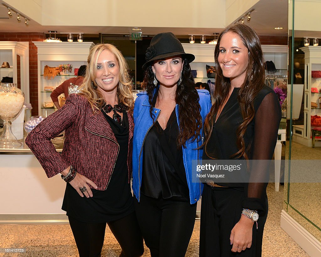 Debbie Weisman, <a gi-track='captionPersonalityLinkClicked' href=/galleries/search?phrase=Kyle+Richards&family=editorial&specificpeople=2586434 ng-click='$event.stopPropagation()'>Kyle Richards</a> and Lizzy Schwartz attend Fashion's Night Out at Kyle by Alene Too on September 6, 2012 in Beverly Hills, California.