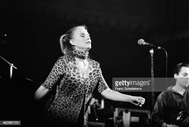 Debby Harry vocal performs at the Paradiso on 22nd November 1989 in Amsterdam the Netherlands