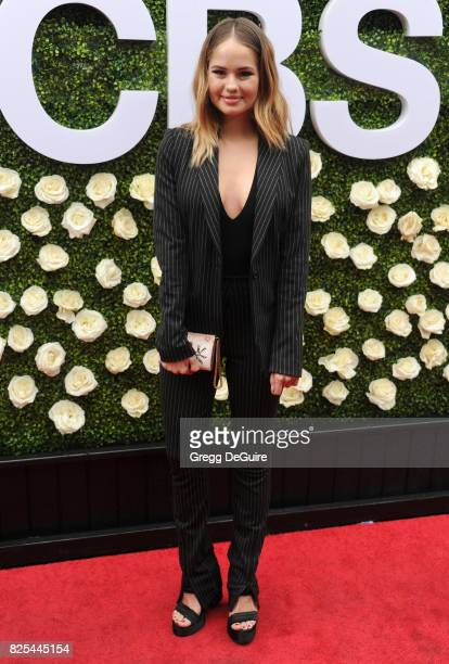 Debby Ryan arrives at the 2017 Summer TCA Tour CBS Television Studios' Summer Soiree at CBS Studios Radford on August 1 2017 in Studio City California