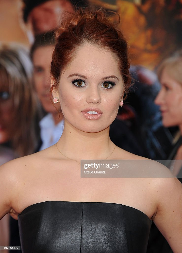 Debby Ryan arrives at the 'Iron Man 3' - Los Angeles Premiere at the El Capitan Theatre on April 24, 2013 in Hollywood, California.