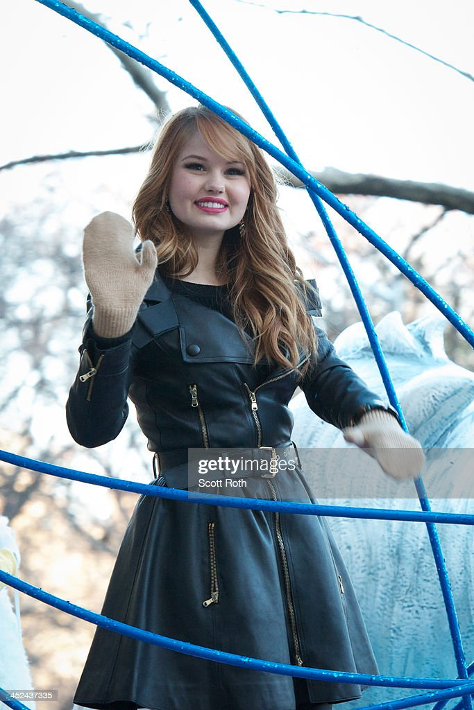 <a gi-track='captionPersonalityLinkClicked' href=/galleries/search?phrase=Debby+Ryan&family=editorial&specificpeople=5443414 ng-click='$event.stopPropagation()'>Debby Ryan</a> attends the 87th annual Macy's Thanksgiving Day parade on November 28, 2013 in New York City.