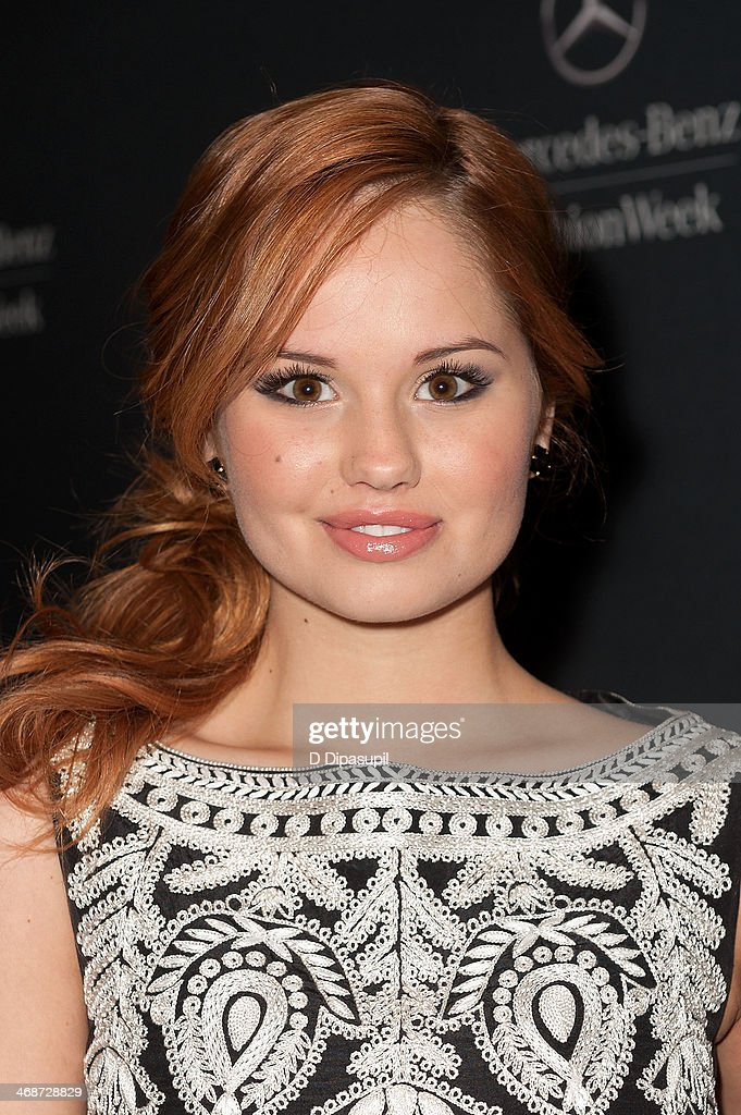 Debby Ryan is seen during Mercedes-Benz Fashion Week Fall 2014 at Lincoln Center for the Performing Arts on February 11, 2014 in New York City.
