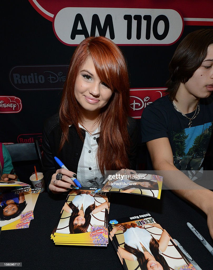 Debby Ryan star of the hit series 'Kickin' It' gets signs autographs for Radio Disney AM 1110 fans at the Wii U Showdown at Westfield Century City Mall in Los Angeles on December 9, 2012. Wii U is one of Nintendo's hottest items of the holiday season.