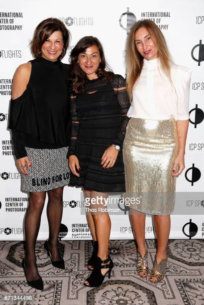 Debby Wilpon Lynsey Addario and Debby Hymowitz attend The 2017 ICP spotlights luncheon honoring Pulitzer PrizeWinning photojournalist Lynsey Addario...